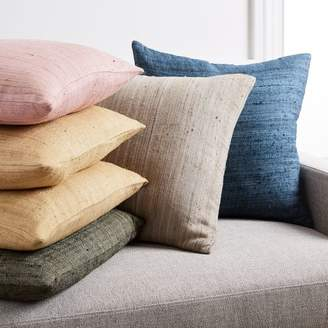 west elm Woven Silk Pillow Covers