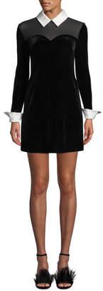 Bailey 44 Dealer Collared Velvet Mini Dress