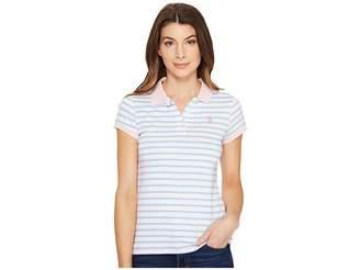 U.S. Polo Assn. Short Sleeve Jersey Polo Women's Clothing
