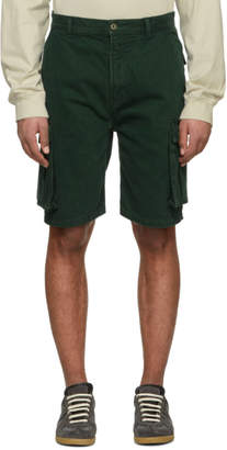 Acne Studios Bla Konst Green Sheen Over Shorts