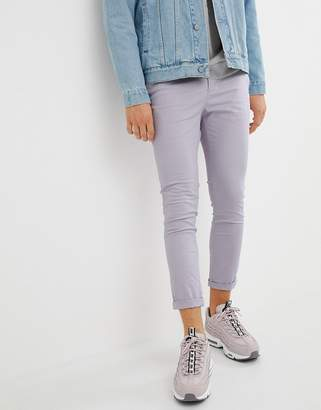 Asos DESIGN super skinny cropped chinos in pastel purple