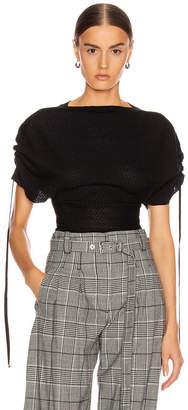 Stella McCartney Tie Tweed Top in Black & Grey | FWRD