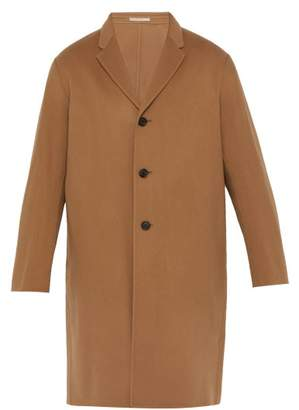 Acne Studios Wool And Cashmere Blend Overcoat - Mens - Camel