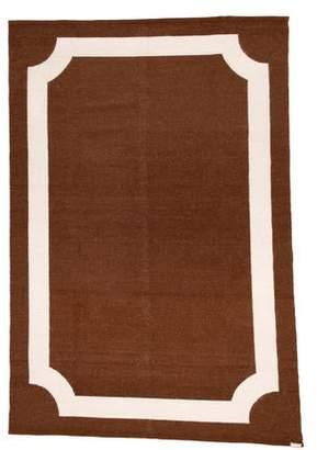 "Jonathan Adler Mansard Peruvian Flat Weave Rug 5'10.5"" x 9'"