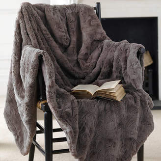 Ella James Supersoft Faux Fur Mink Or Oyster Throw