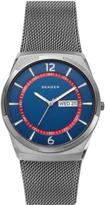 Skagen Melbye Stainless Steel Mesh Bracelet 3-Hand Watch