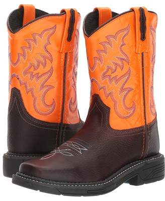 Old West Kids Boots Square Toe Work Sole Boot Cowboy Boots