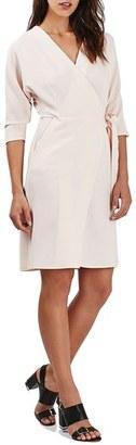 Topshop Dolman Sleeve Wrap Midi Dress $90 thestylecure.com