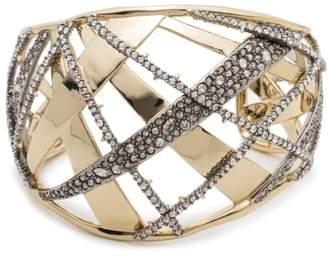 Alexis Bittar Crystal Encrusted Plaid Bracelet