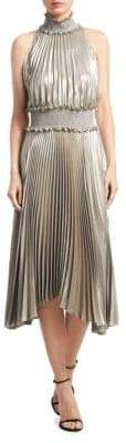 A.L.C. Kravits Metallic Pleated Dress