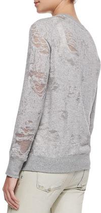 IRO Nona Distressed Knit Tee