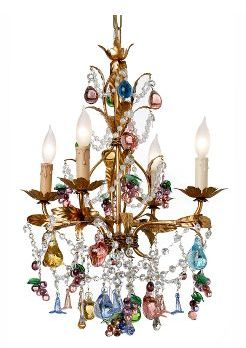 Venetian Glass Fruit Chandelier