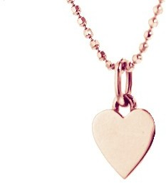 Jennifer Meyer Rose Gold Heart Necklace