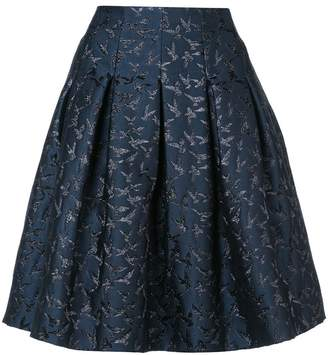 Oscar de la Renta embroidered bird skirt