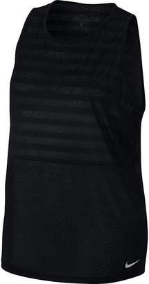 Nike Breathe Loose Stripe Tank Top - Plus