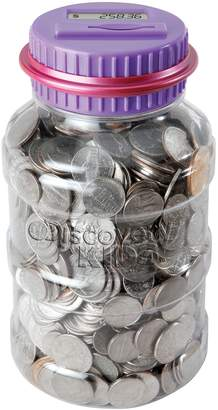 Discovery Purple Coin-Counting Money Jar