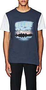 Off-White MEN'S GRAPHIC-PRINT COTTON JERSEY T-SHIRT-NAVY SIZE XS