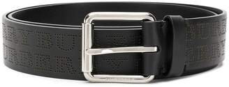 Burberry perforated logo belt