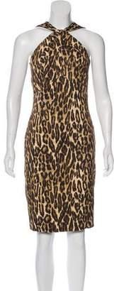 Michael Kors Leopard Print Sleeveless Dress