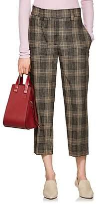 Acne Studios Women's Plaid Wool-Mohair Crop Trousers