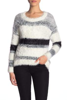 Susina Colorblock Eyelash Knit Sweater (Petite)