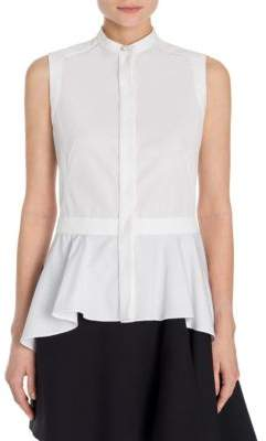 Alexander McQueen Cotton Asymmetric Top