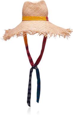 Albertus Swanepoel Motswari Fringed Raffia Hat
