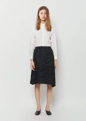 Issey Miyake Square Pleats Skirt Black