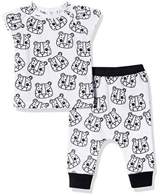 Silly Apples (026) Unisex Baby 2-Piece Short-Sleeve T-Shirt and Pant Outfit Set (12M)