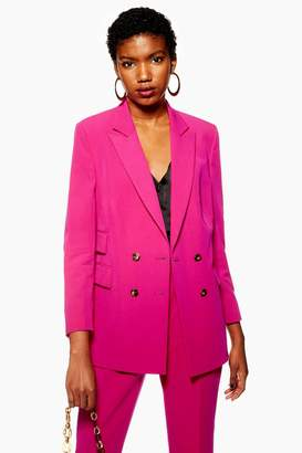 Topshop PETITE Longline Double Breasted Jacket
