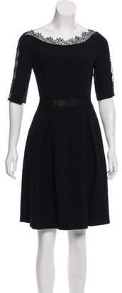 Blumarine Lace-Accented Mini Dress