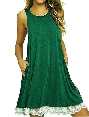 IINIBUD Women Summer Beach Dresses for Women Sleeveless Tank Dress  Adjustable (S 6e93519ff