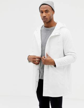 Asos Design DESIGN parka jacket in white