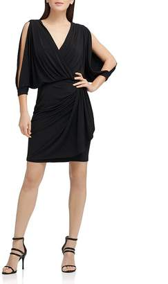 Donna Karan Split-Sleeve Jersey Dress