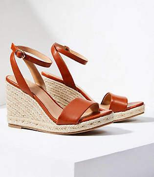 LOFT Ankle Strap Espadrille Wedge Sandals