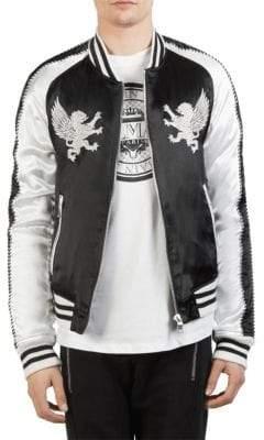 Balmain Satin Souvenir Bomber Jacket