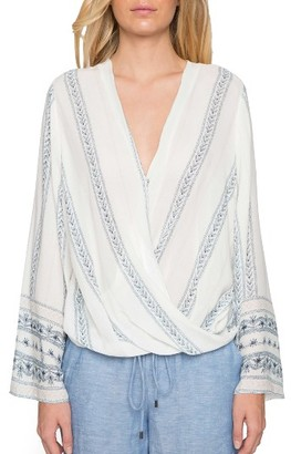 Women's Willow & Clay Wrap Front Blouse $79 thestylecure.com