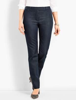 Talbots Bi-Stretch High-Waist Straight-Leg Pant - Polished Denim