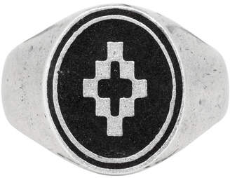 Marcelo Burlon County of Milan Silver and Black Cross Ring
