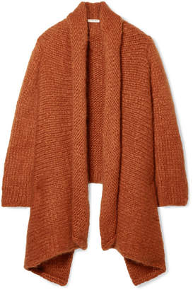 The Row Kaylin Oversized Asymmetric Cashmere Cardigan - Orange