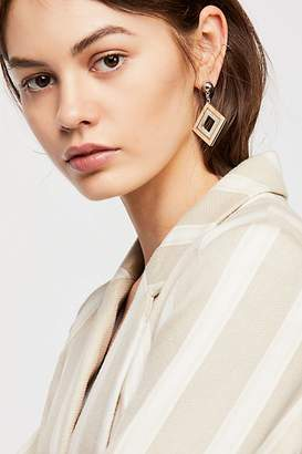 Zhuu Diamond Wood Single Earring