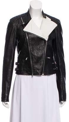 Yigal Azrouel Embossed Leather Jacket