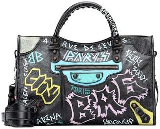 Balenciaga Classic City Graffiti leather tote