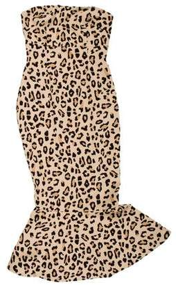 Cinq à Sept Animal Print Midi Dress w/ Tags