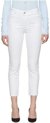 Levi's Levis White 724 High-Rise Straight Jeans