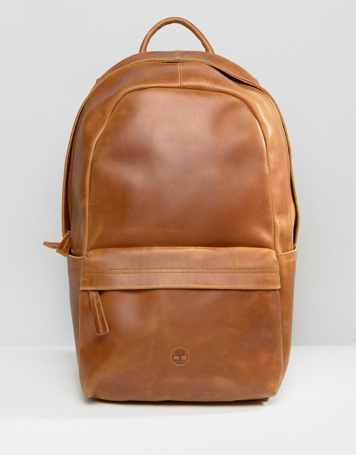 Timberland Timberland Leather Backpack Brown