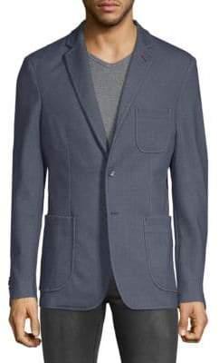 Saks Fifth Avenue Tonal Elbow Sport Jacket