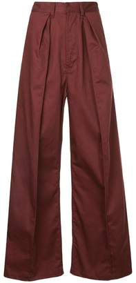 G.V.G.V. cropped lace-up trousers