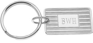 Asstd National Brand Personalized Rectangular Silvertone Key Ring