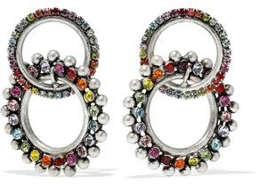 Dannijo Truby Silver-Plated Swarovski Crystal Earrings